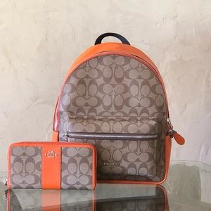 Nwt Coach md Charlie backpack&wallet